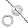 Metal Beads Round 7mm/3mmhole Silver